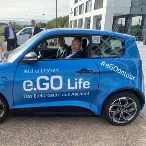 Testfahrt mit dem Auto E.Go Mobile