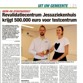Het Nieuwsblad over Interreg-project i2-CORT
