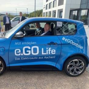 Erste Testfahrt im E.Go Mobile