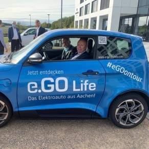 Test drive with E.Go Mobile