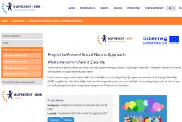euPrevent Social Norms Approach website